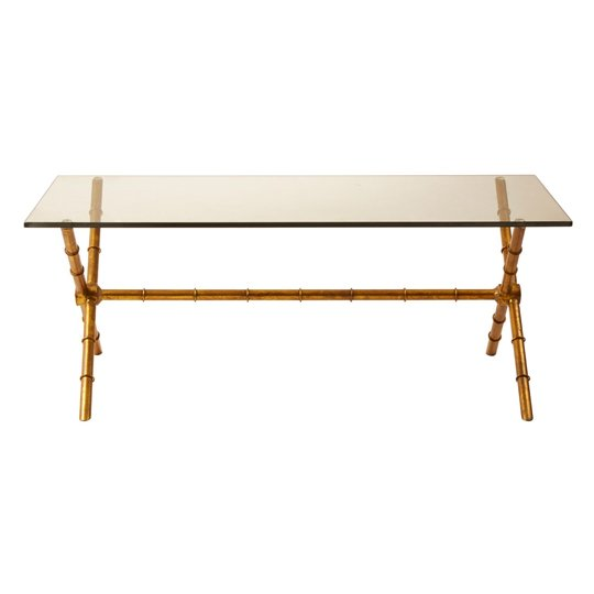 Kamui Rectangular Coffee Table With Tempered Glass Top