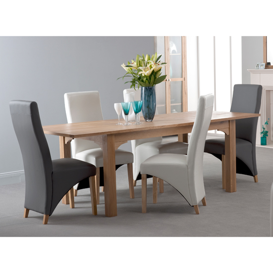 Montana Extending Oak Dining Table Set With 6 Paris Chairs
