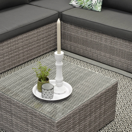 Montella Corner Sofa Group With Coffee Table In Organic Grey_3