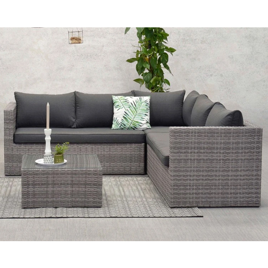 Montella Corner Sofa Group With Coffee Table In Organic Grey_1