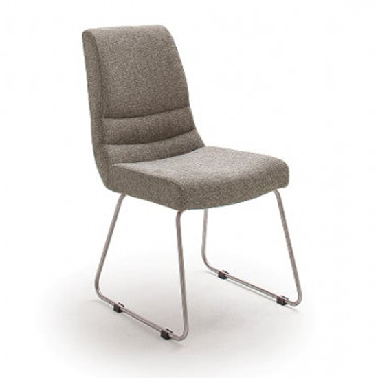 Montera Fabric Skid Dining Chair In Cappuccino