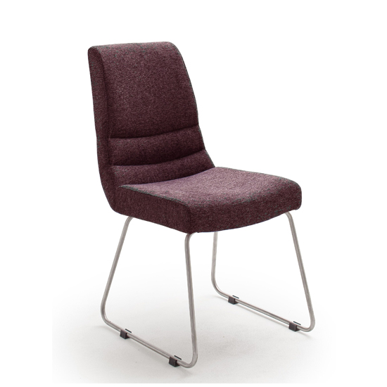 Montera Fabric Skid Dining Chair In Merlot