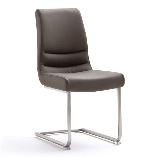 Montera Leather Dining Chair In Brown
