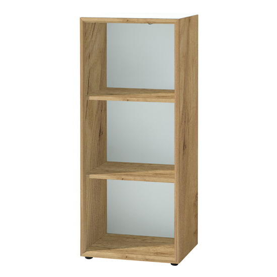 Monteria Shelving Unit In Navarra Oak And White High Gloss