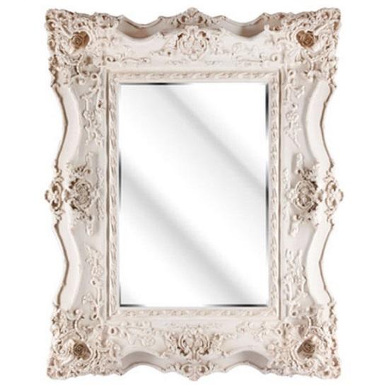 Montigo Ornate Wall Mirror In An Ivory Frame