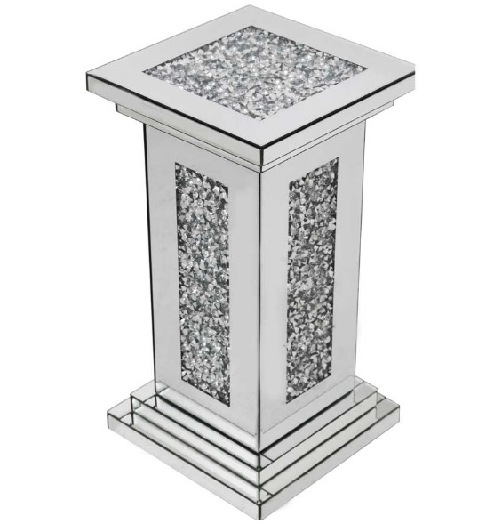 Montrez Mirrored Small Pillar Side Table_1