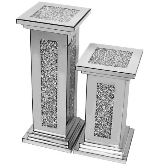 Montrez Mirrored Small Pillar Side Table_2