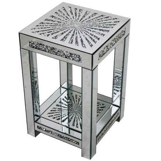 Montrez Mirrored Sunburst Small Side Table_1