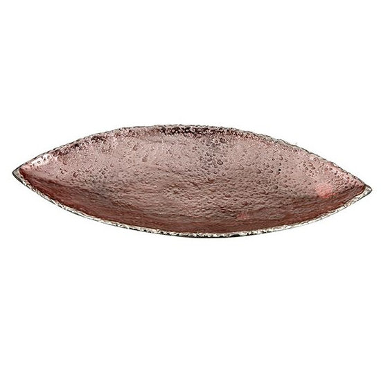Moonrock Aluminium Small Decorative Dish In Antique Rose Gold