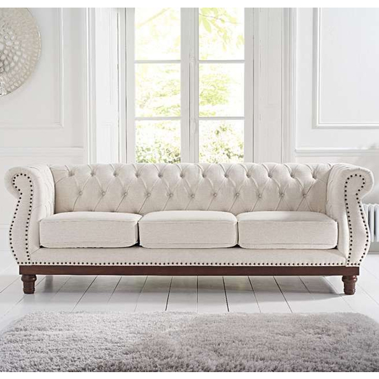 Morava Linen 3 Seater Sofa In Ivory_2