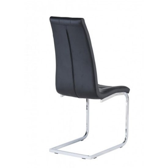 Moreno Faux Leather Dining Chair In Black_2