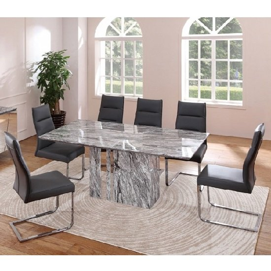 Moritz Marble Rectangular Dining Table With 6 Dining Chairs : moritzmarblediningsetmulticolour from www.furnitureinfashion.net size 550 x 550 jpeg 111kB