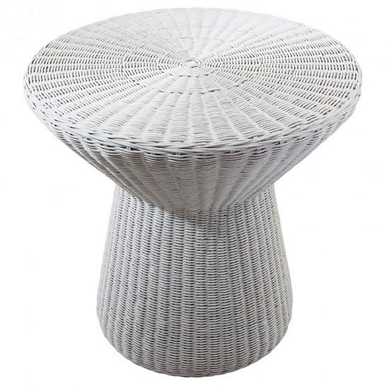 Moritz Mushroom Side Table In Light Grey