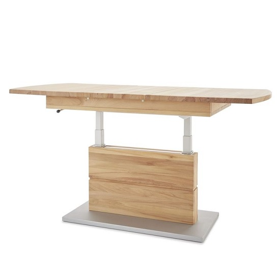 Morris Extendable Coffee Table In Beech Heartwood And Lift