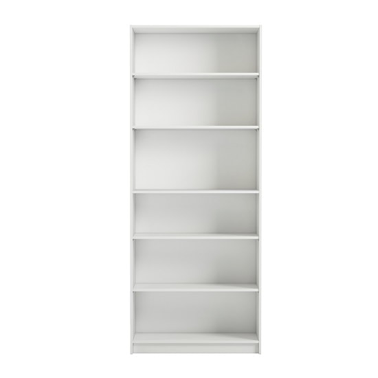 Morton Wide Shelving Unit In White With 6 Open Compartments