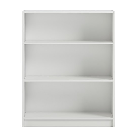 Morton Wide Shelving Unit In White With 3 Open Compartments