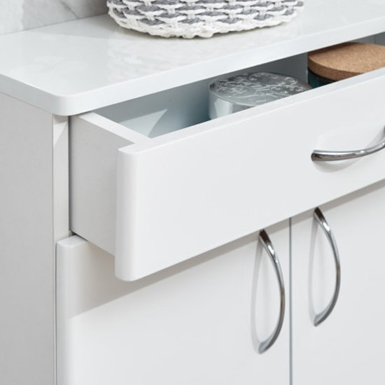 Mortos 2 Doors 1 Drawer Bathroom Cabinet In White High Gloss_4