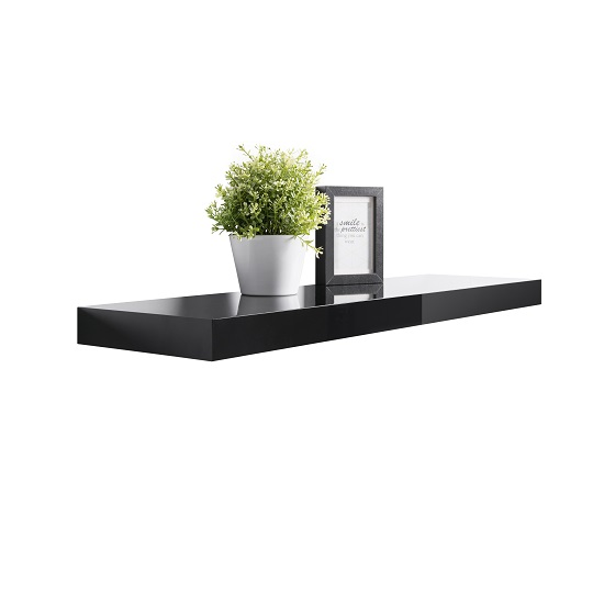 Black floating shelf shop for cheap kitchen units and for Cheap kitchen wall units