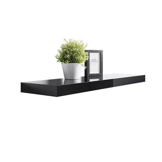 home pair of corner floating shelves black. Black Bedroom Furniture Sets. Home Design Ideas
