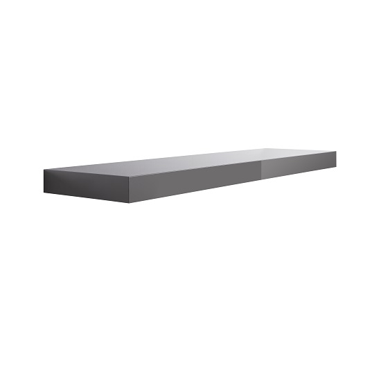 Mosby Floating Wall Shelf In High Gloss Grey_2