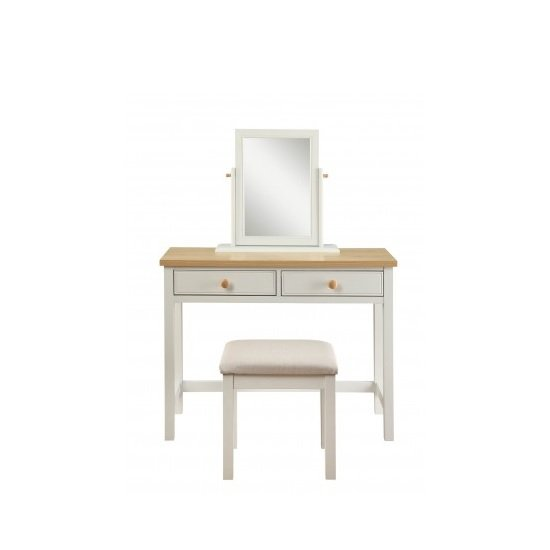 Movada Wooden Dresing Table Set In Dove Grey