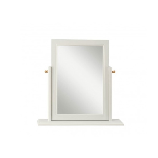 Movada Wooden Dressing Table Mirror In Dove Grey