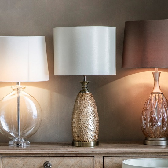 Mowbray Table Lamp With Drum Shape Shade