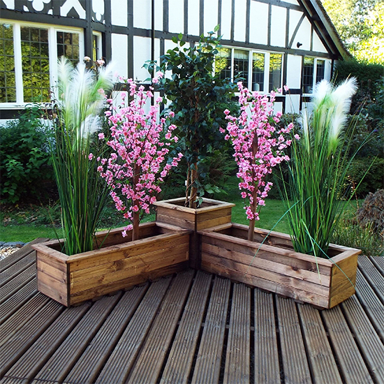 Moya Corner 3 Pieces Planter Set
