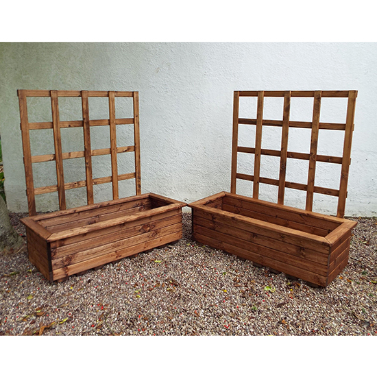 Moya Large Kensington 2 Pieces Trellis Trough Set