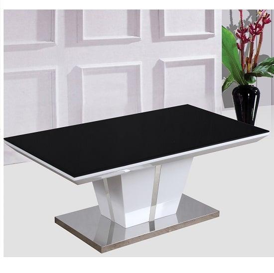 New Stunning Monaco Black Glass White High Gloss Coffee