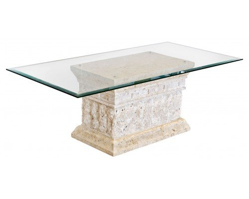 Glass coffee table furniture living room modern mactan for Stone base glass top coffee table
