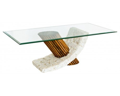 Barnaby Coffee Table In Clear Glass Top