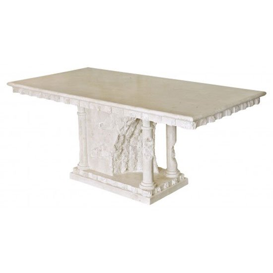 View Bellagio macatan stone roman style dining table