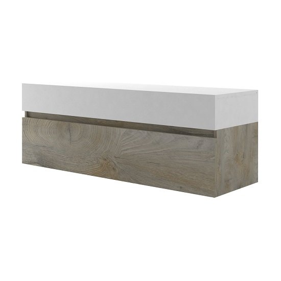 Muller Small TV Stand In Distressed Effect And White With LED_4
