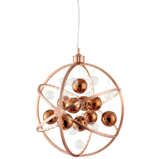 Muni Wall Hung Pendant Light In Copper