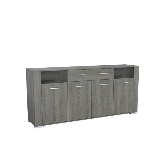 Murcia Wooden Large Sideboard In Hudson Oak With 4 Doors