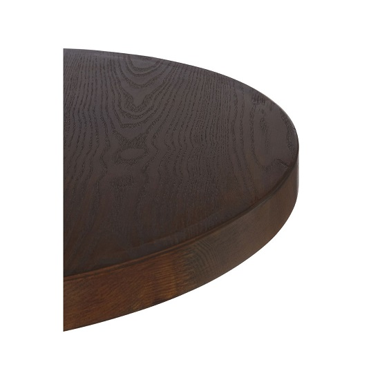 Kekouan Wooden Round Dining Table In Walnut With Black Leg  _3