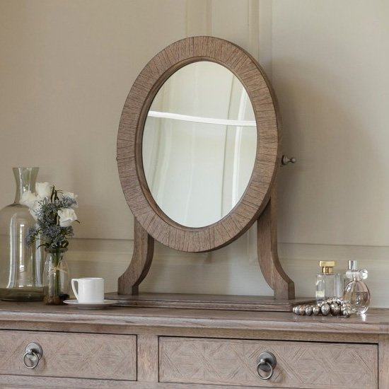 Mustique Dressing Mirror In Natiral Wooden Frame