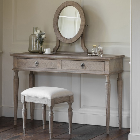 Mustique Mindy Ash Wooden Dressing Table With 2 Drawers
