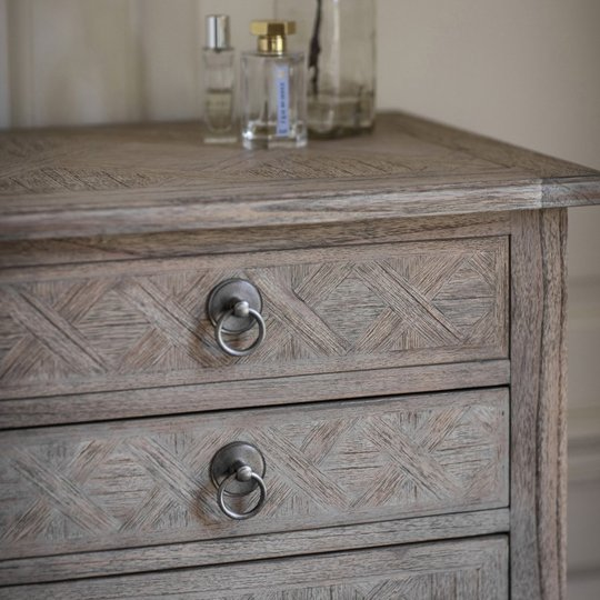 Mustique Mindy Ash Narrow Chest Of Drawers With 5 Drawers_2