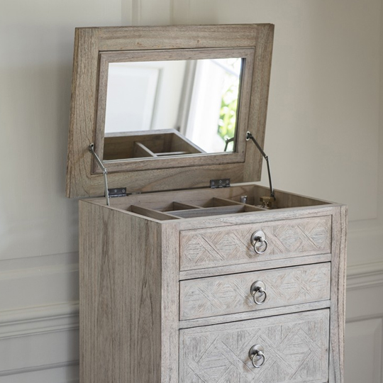 Mustique Mindy Ash Narrow Chest Of Drawers With 5 Drawers_4
