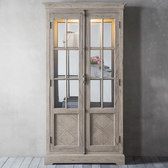Mustique Wooden Display Cabinet With 2 Doors