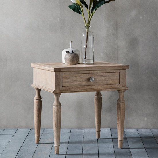 Mustique Wooden Side Table With 1 Drawer