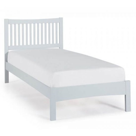 Mya Hevea Wooden Single Bed In Grey