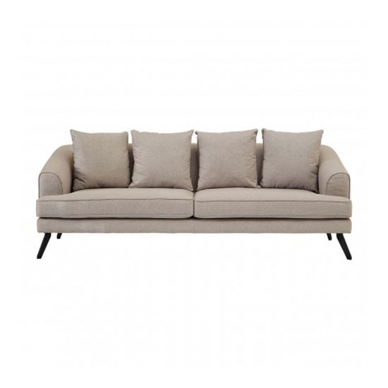 Myla 3 Seater Fabric Sofa In Natural