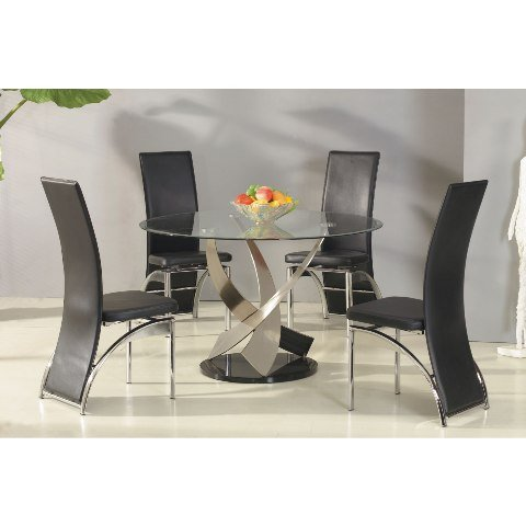 Mystique Round Glass Dining Table