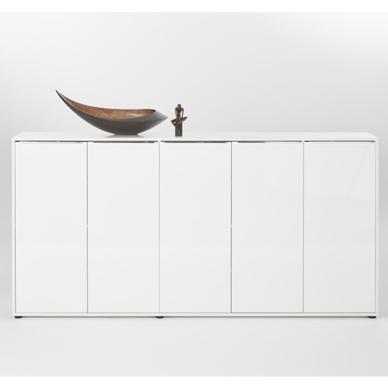 Nala Shoe Storage Cabinet In White High Gloss With 5 Door