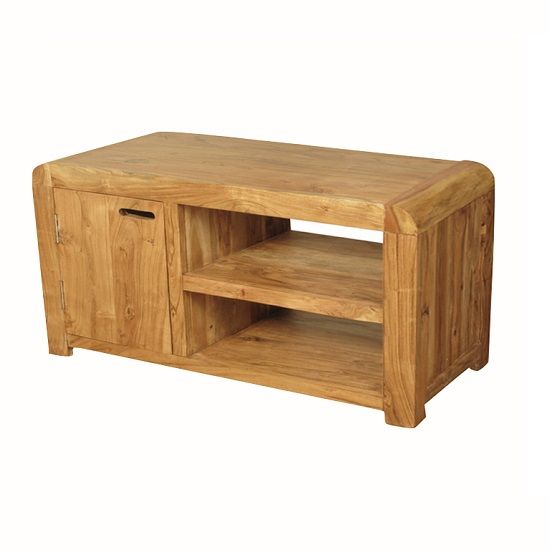 Nancy Small TV Stand In Solid Acacia Wood