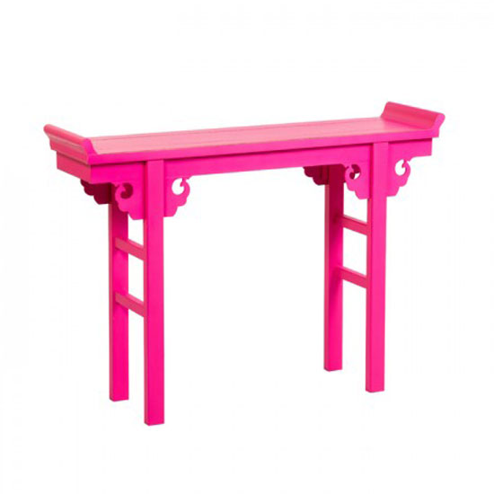nanjing console table pink - How To Make Your Room Unique With A Half Moon Console Table With Drawers