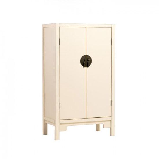Anji 2 Door Spice Cupboard in Cream